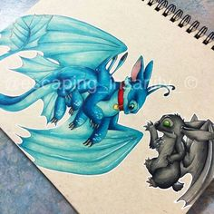 Stitch and Toothless ^.^ ♡ I give good credit to whoever made this