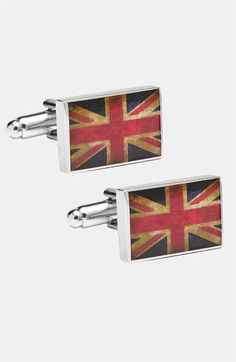 Kinda LOVE says the english girl.  Ravi Ratan Cufflinks, Inc. 'Union Jack' Cuff Links available at #Nordstrom