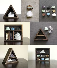 this makes me want to make little wooden houses for my crystals. Put it above my bed!