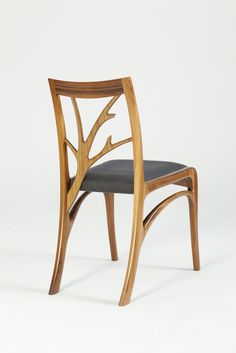 Luxurious handmade bespoke dining chair, designed by award winning furniture designer, Will Marx. Custom made from Australian Tasmanian Blackwood solid timber.