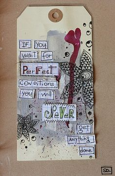 Great mix of tag and art journaling! (K)