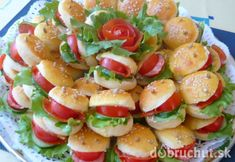 Žabky Appetizer Recipes, Appetizers, Bulgarian Recipes, Mini Burgers, Cooking Recipes, Healthy Recipes, Food Humor, Party Snacks, Caprese Salad