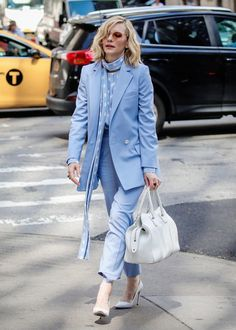 a37ddfb0aef812 Dandy, Michelle Fairley, Stylish Suit, Cate Blanchett, Star Fashion, Style  Icons