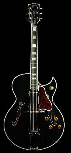 Gibson Custom Shop Byrdland with single Florentine cutaway and twin Humbucker pups in jet black