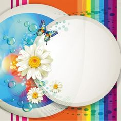 floral flower butterfly abstract background vector