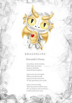 Doranth Dragonling's poem. Every Frightlings character comes with it's own spooky poem.