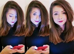 Zoe on her phone!
