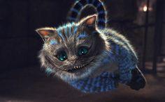 Картинка Алиса в стране чудес, кот, прыжок