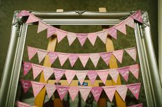 Using bunting for table placements: http://www.confetti.ie/real-wedding/musical-match-northern-irish-diy-wedding-slieve-donard-newcastle-co-down