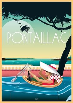 Style Surf, Sky Pool, Vintage Travel Posters, Wall Collage, Illustrators, North America, Poster Prints, Art Deco, Saint Palais