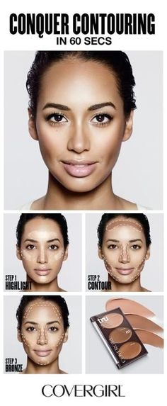 COVERGIRL shows you how to contour your face in 60 seconds! Follow COVERGIRL'S step-by-step contouring tutorial using our truBLEND Contour Palette and learn to highlight, contour and bronze your face in 60 seconds. Great for beginners! Follow this simple contouring guide and learn to contour like a pro. by candy