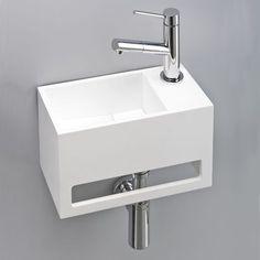 Design, pratique et peu encombrant, lave-main avec porte-serviettes