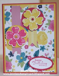 SUO-Mojo313 Birthday Flowers by CraftyJennie - Cards and Paper Crafts at Splitcoaststampers