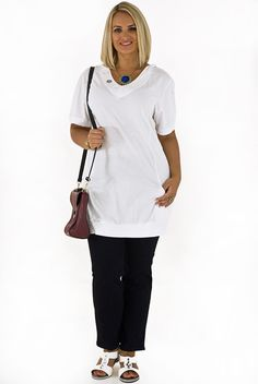 White drop pocket hoody