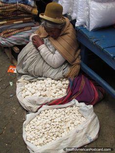 White potatoes, popular in La Paz, Bolivia