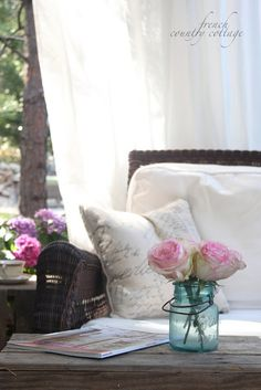 FRENCH COUNTRY COTTAGE: A quiet morning view & randomness