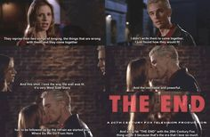 """Joss Whedon's comments about Spike and Buffy kiss at the end of """"Once More With Feeling"""" source"""