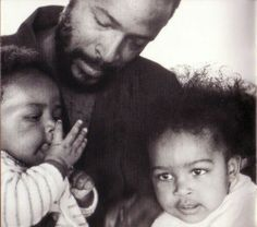 Marvin Gay and his children