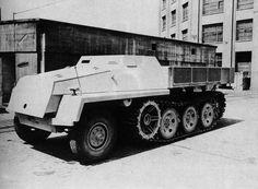 Büssing-NAG schwerer Wehrmachtschlepper 8t Zugkraftwagen mit Behelfspanzerung (Halbketten) | Flickr - Photo Sharing!