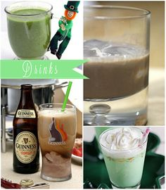 This collection of St. Patrick's Day drinks from Cheryl @TidyMom all look wonderful
