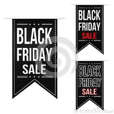 Black friday sale banner design set