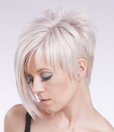 Asymmetrical Fringe...maybe this with some colored streaks