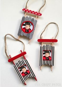 Popsicle stick sleighs