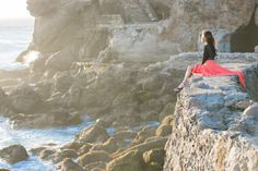 That view. The warmth of a gorgeous sun. The sounds of refreshing waves against the rocks below. And the coral maxi skirt!! <3... @Wendy's Lookbook