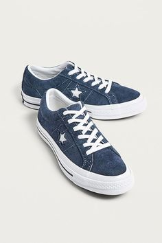 38d04659a0d Slide View: 1: Converse One Star Navy Suede Trainers Converseskor, Urban  Outfitters,