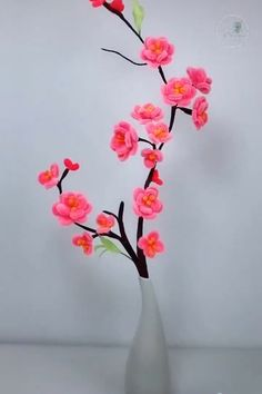 Create your own flower tree! Here are useful tips how to do it! Diy Crafts For Gifts, Diy Arts And Crafts, Creative Crafts, Diy Home Crafts, Rope Crafts, Paper Flowers Craft, Flower Crafts, Diy Flowers, Flower Diy