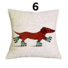 Home Goods - Happy Dachshund Cushion Covers