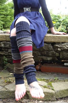 Legwarmers, except we wear them with holes in the heels and no boots...