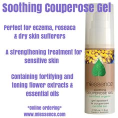 #Miessence #Certifiedorganic #Skincare Do you suffer redness in the skin?