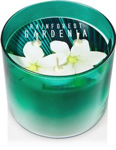 Rainforest Gardenia 3-Wick Candle - Home Fragrance 1037181 - Bath & Body Works