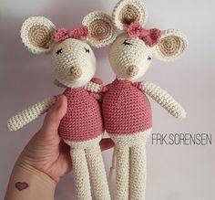 Amigurumi Manny & Millie Mouse free pattern