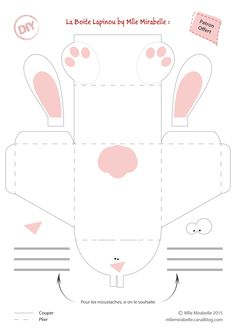 DIY Table Decoration: Your Easter Bunny Box [Gabarit Offert] – Miss Mira … Easter Games, Easter Activities, Children Activities, Bunny Crafts, Easter Crafts, Diy And Crafts, Crafts For Kids, Easter Printables, Easter Holidays