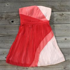 Colorblocks & Pleats Dress 	  $62.00