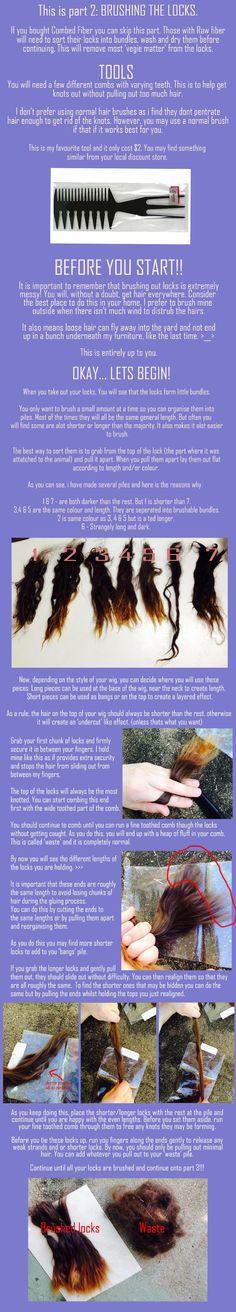 Alpaca wig making, part 2