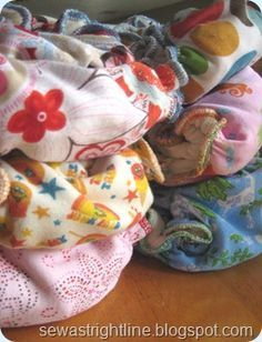 Make your own cloth diapers! AWESOME!