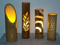 Bamboo craftsmanship is a technique used by those who seek to transform this rich material into exclusive, functional and resistant pieces. Bamboo Light, Bamboo Lamp, Bamboo House Design, Image Deco, Lampe Decoration, Bamboo Decoration, Bamboo Architecture, Bamboo Crafts, Bamboo Furniture