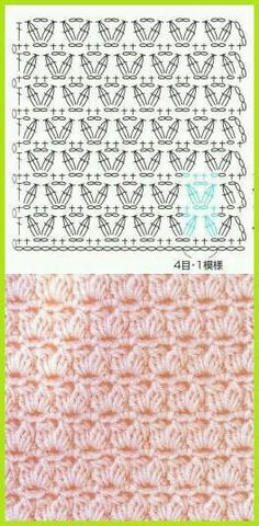 new Ideas crochet shawl diagram charts granny squares Knitting a… Crochet Shawl Diagram, Crochet Stitches Chart, Crochet Motifs, Crochet Blanket Patterns, Knitting Patterns, Crochet Blankets, Baby Blankets, Baby Patterns, Bandeau Crochet