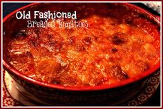 Sweet Tea and Cornbread: Mama's Old Fashioned Breaded Tomatoes!