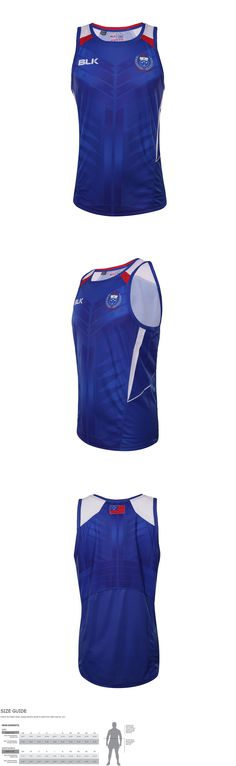 Rugby 21563: Manu Samoa Rugby Union Official Players Blue Training Singlet Size S-5Xl! 5 -> BUY IT NOW ONLY: $44.95 on eBay!