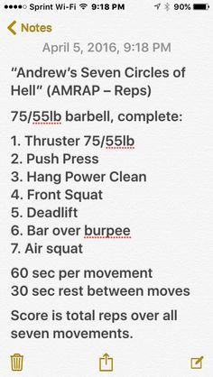Crossfit workout #wod #amrap