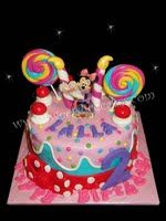 Minnie Mouse Inspired Sweet Shop 2nd Birthday Cake