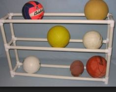 PVC Garage Organizer, I Think Our Soccer Balls Would Fill The Whole Thing