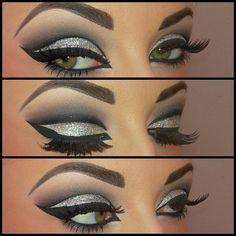 Arabic Glitter Eyes Makeup | http://amazingeyemakeuptips.blogspot.com
