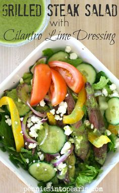 Grilled Steak Salad with Chipotle Lime Dressing