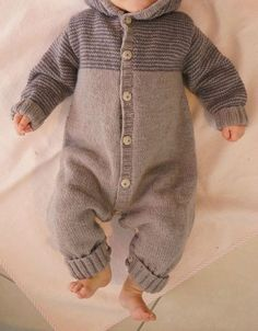 Baby Overall - maallure Knitting Patterns Boys, Baby Boy Knitting, Knitting For Kids, Crochet For Kids, Crochet Baby Pants, Knitted Baby Clothes, Baby Outfits, Kids Outfits, Pull Bebe