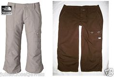 """*HELP SAVE SEA TURTLES*     NEW Women's The North Face Hammerland Capri Pants A5 Series Ripstop Utility Brown, Trail, Adventure Travel, Hike, Climb, Backpacking, Yoga... Size: 4  (actual waist = 27"""" to 28"""") REALLY GREAT PANTS!    *Thank you for supporting SEATURTLE.ORG!"""